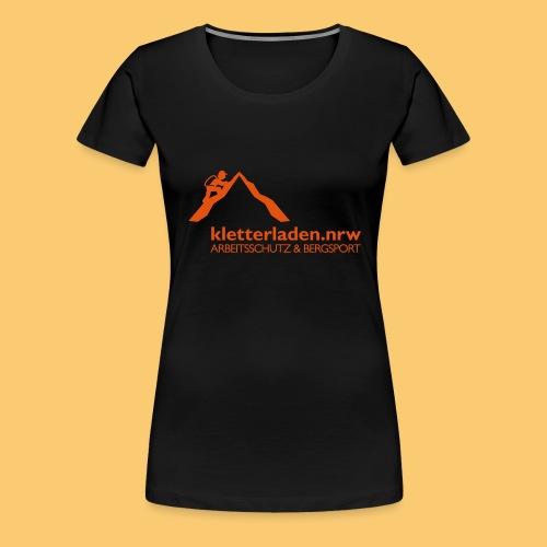 Logo mit Subline_kletterl - Frauen Premium T-Shirt