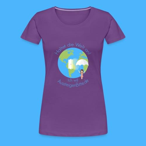 Aussteigen Bitte Logo Shirt png - Frauen Premium T-Shirt