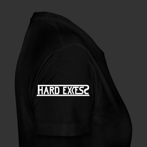 HARD EXCESS Logo weiß - Frauen Premium T-Shirt
