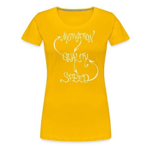 MQS (white) - Premium-T-shirt dam