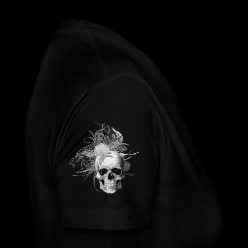 50 shades of lace grey skull white back - Premium-T-shirt dam