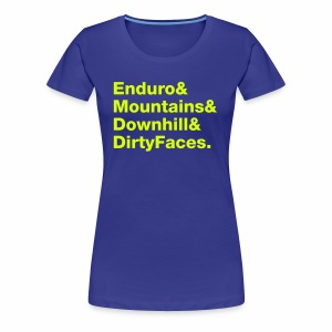 Mountainbike Neon - Frauen Premium T-Shirt