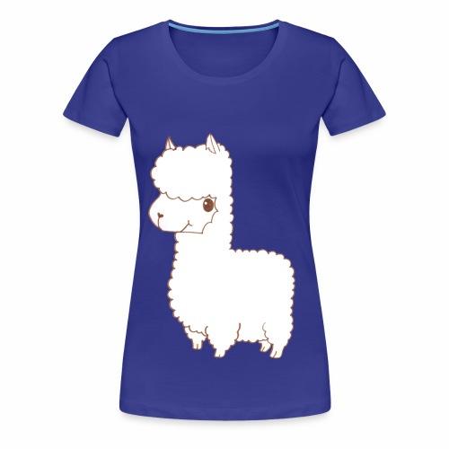 Alpaca scribble - Frauen Premium T-Shirt