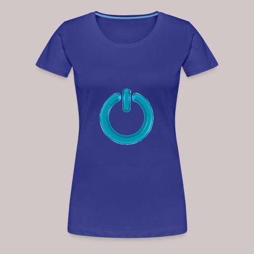 sb-button-azure - Maglietta Premium da donna