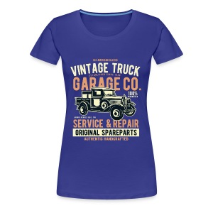 OLD PICK-UP TRUCK- Vintage Pick Up Truck LKW Shirt - Frauen Premium T-Shirt