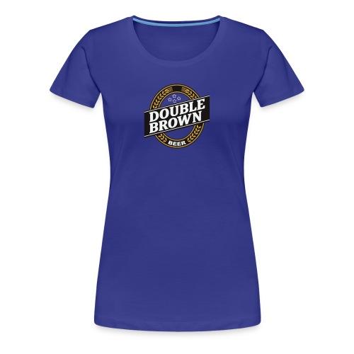 double brown beer - Women's Premium T-Shirt