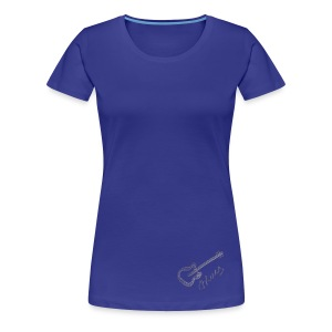 Blues white - Women's Premium T-Shirt