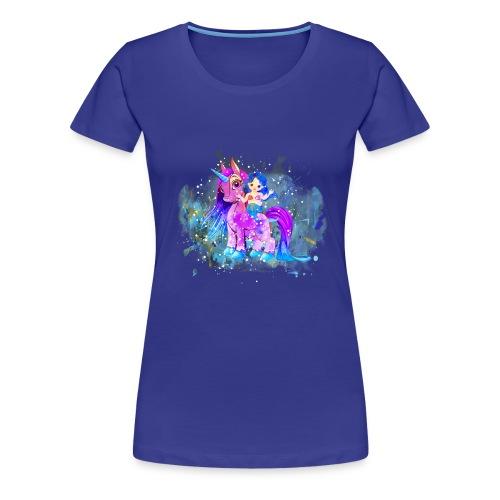 Meerjungfrau Einhorn mermaid unicorn - Frauen Premium T-Shirt