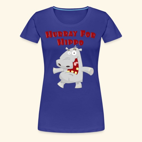 Toddlers & Kids Happy Hippo T Shirt - Women's Premium T-Shirt