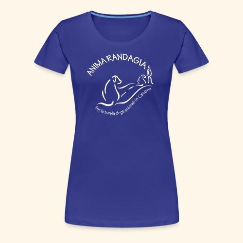 Logo Anima Randagia Bianco - Maglietta Premium da donna