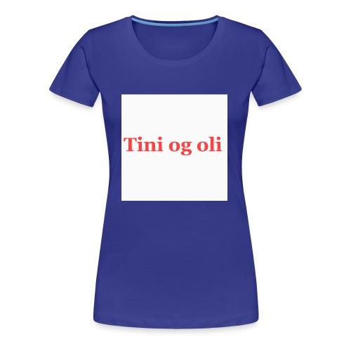 Tini og oli merch - Premium T-skjorte for kvinner