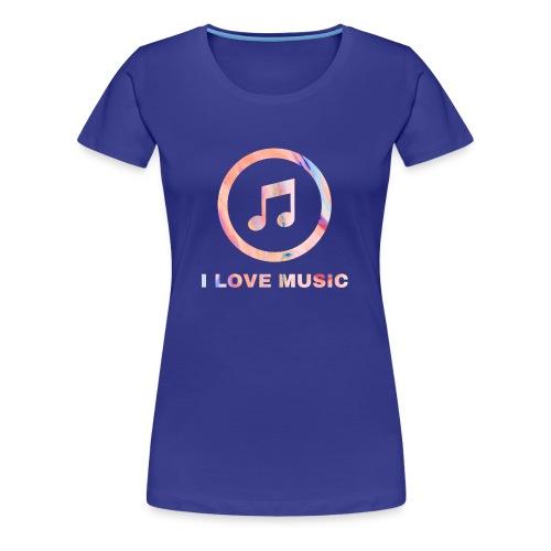 Schlichtes buntes Musik Desgin/Symbol mit Text - Frauen Premium T-Shirt