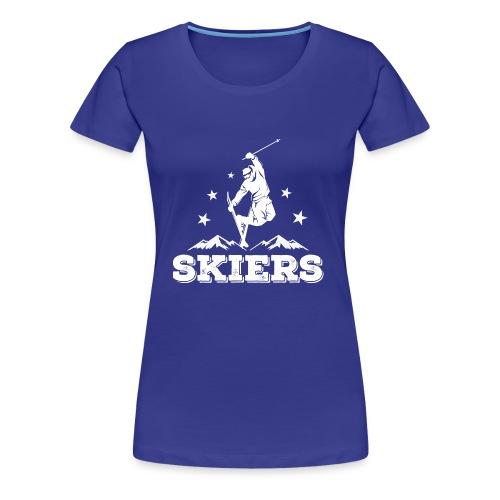 Skiers2 - Frauen Premium T-Shirt