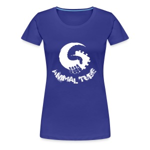 Animal Tube Hand White - Frauen Premium T-Shirt