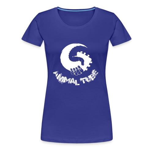 Animal Tube Hand White - Frauen Premium T-Shirt