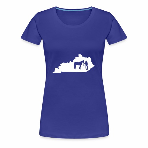 Awesome Kentucky Horse Map Riding Horseback Horse - Frauen Premium T-Shirt