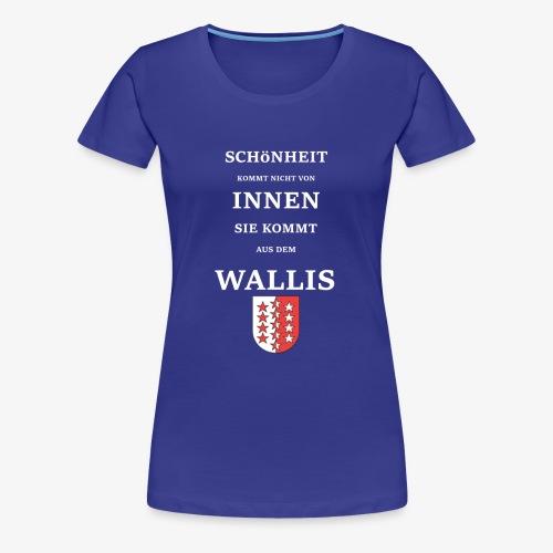 WALLIS 2 Weiss Txt - Frauen Premium T-Shirt