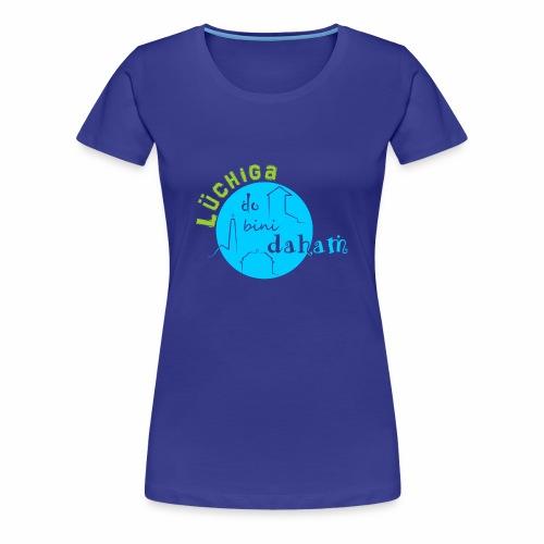 KreisTuerkisgruen - Frauen Premium T-Shirt