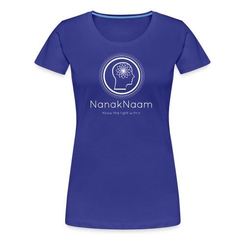 Nanak Naam Logo and Name - White - Women's Premium T-Shirt