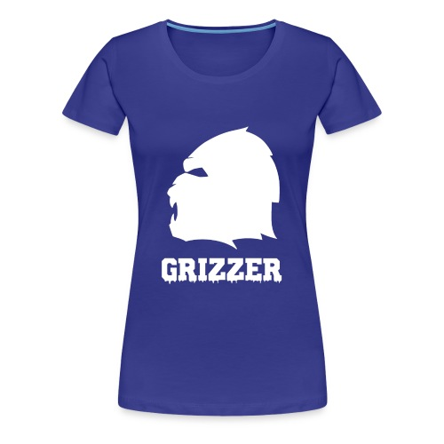 GRIZZER BLANC - T-shirt Premium Femme