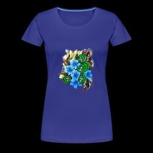 abstract flowers - Women's Premium T-Shirt