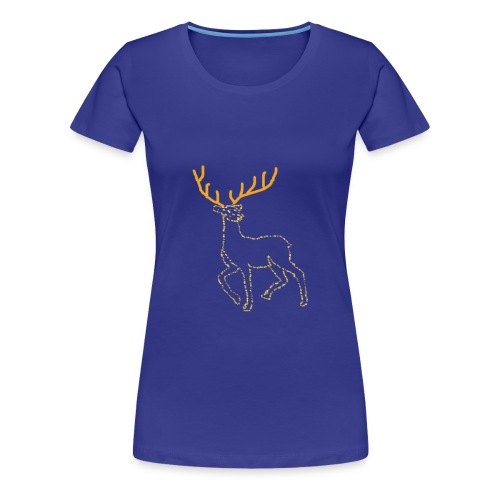 Reindeer print clothes | Gift for Christmas | Jul - Dame premium T-shirt