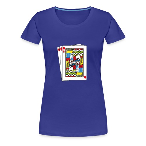 King Playing Card holding a Spraycan - Vrouwen Premium T-shirt