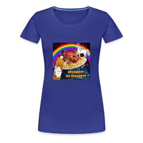 Eplemost og Spagetti - Premium T-skjorte for kvinner