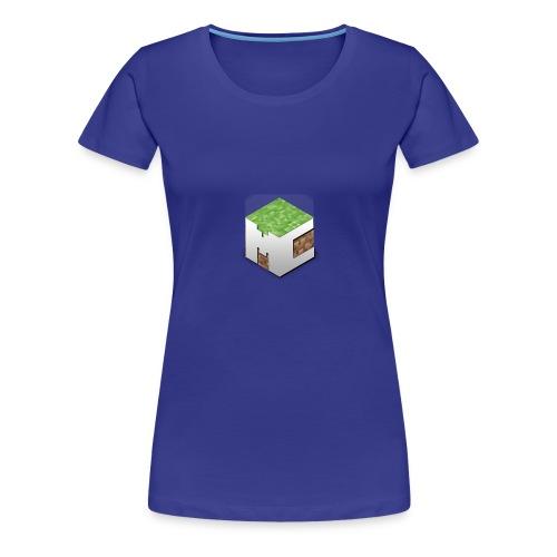 MineCraft 3D - Vrouwen Premium T-shirt