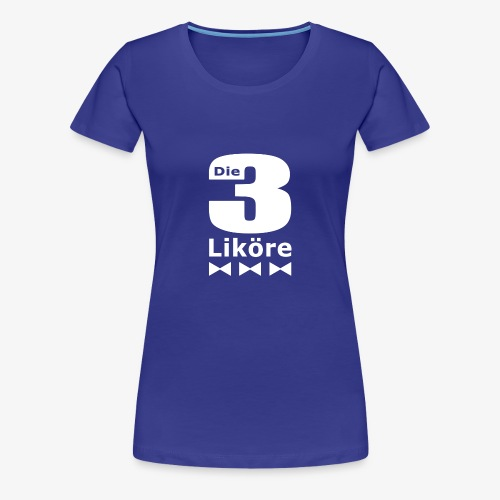 Die 3 Liköre - logo weiss - Frauen Premium T-Shirt