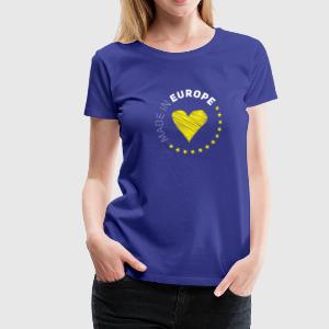 made in Europe love EU europe no Proposed referendum on United Kingdom membership of the European Union Euro star - Women's Premium T-Shirt