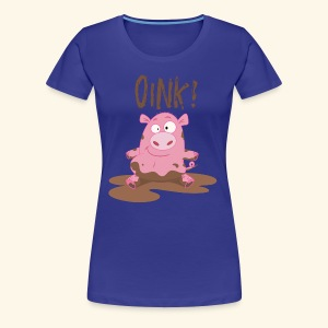 Toddlers & Kids Funny Piggy T Shirt - Women's Premium T-Shirt