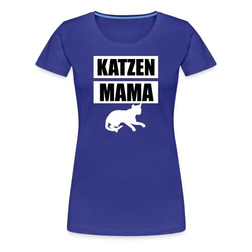 Katzen Mama - Cat Mother - Cat Mom - Katze - Frauen Premium T-Shirt