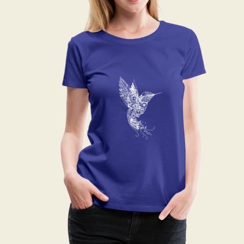 Großer Kolibri in weiß - Frauen Premium T-Shirt