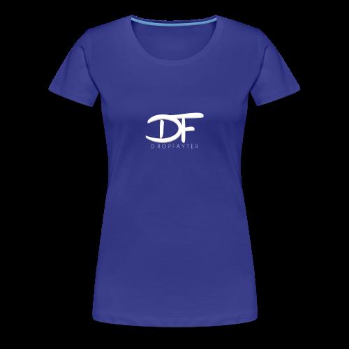 Dropfayter logo in WIT - Vrouwen Premium T-shirt