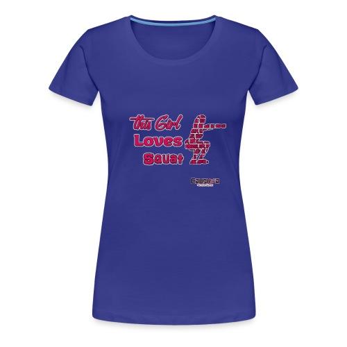 Girld Love Squat - Women's Premium T-Shirt