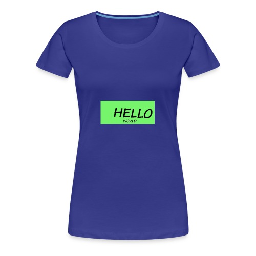 HELLO - Women's Premium T-Shirt