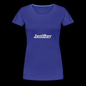 LIQUID ANGER LOGO 2017 WHITE - Premium-T-shirt dam
