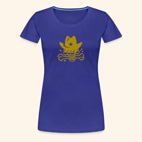 SKULL GOLD - Frauen Premium T-Shirt