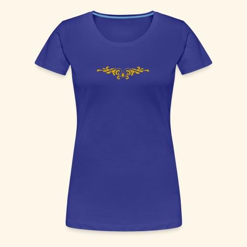 Ilustraccion de un diseño dorado - Camiseta premium mujer