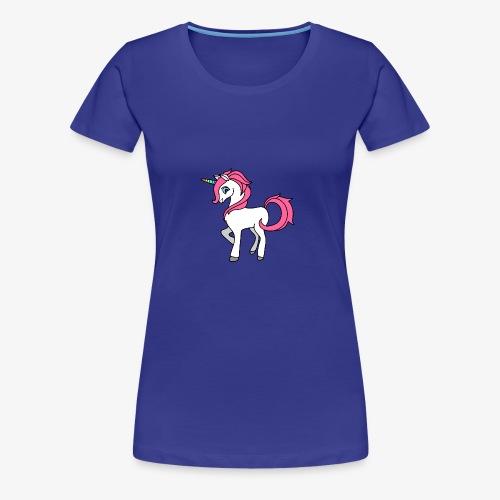 Süsses Einhorn mit rosa Mähne und Regenbogenhorn - Frauen Premium T-Shirt