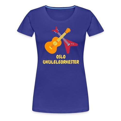Oslo Ukuleleorkester sin t-shorte - Premium T-skjorte for kvinner