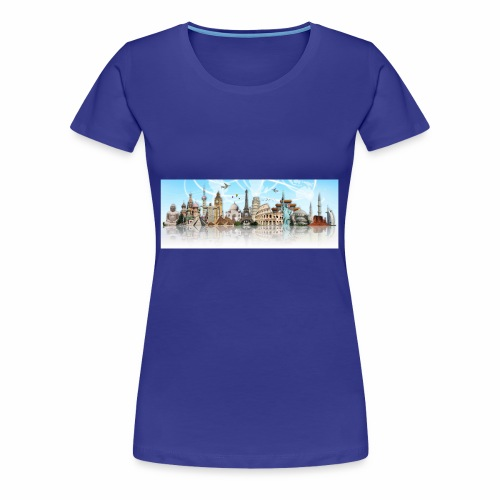 worldwide travel - Frauen Premium T-Shirt