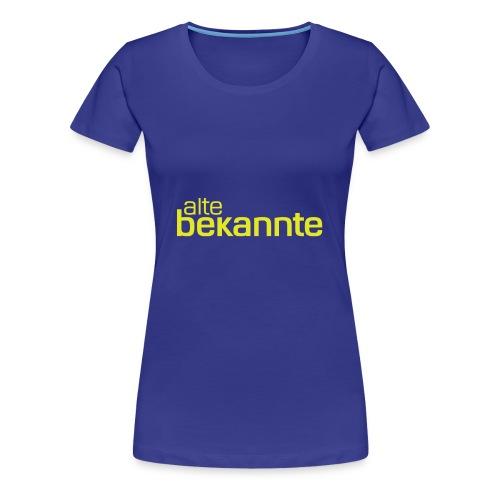 alte bekannte Logo gelb - Frauen Premium T-Shirt