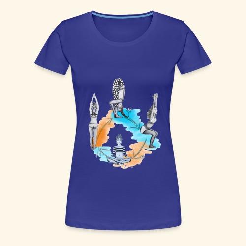 Yoga Poses - Women's Premium T-Shirt