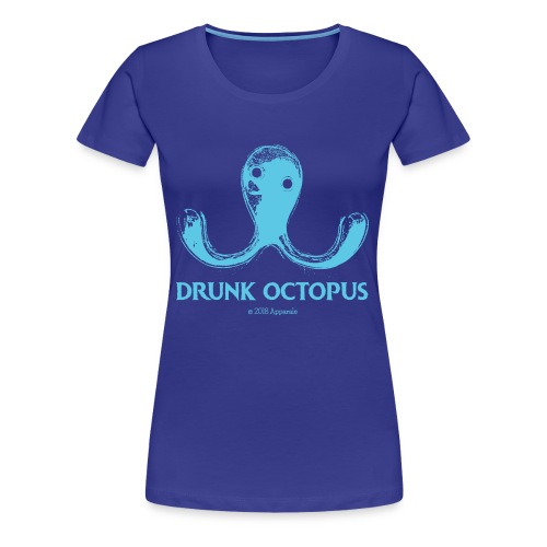 Drunk Octopus - Women's Premium T-Shirt
