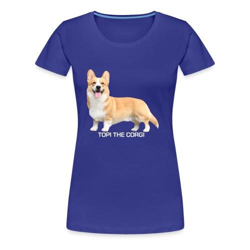 Topi the Corgi - White text - Women's Premium T-Shirt