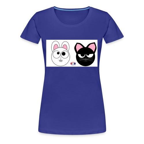 coniglio gatto - Maglietta Premium da donna