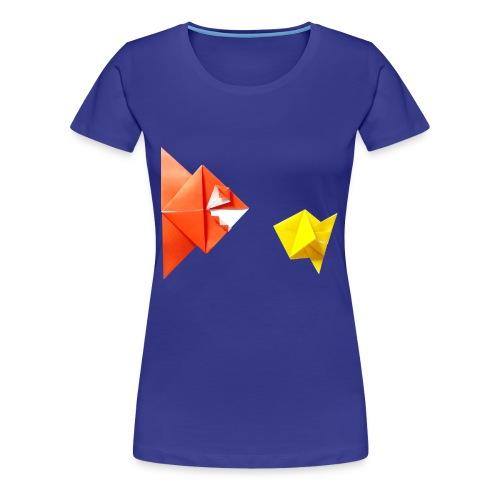 Origami Piranha and Fish - Fish - Pesce - Peixe - Women's Premium T-Shirt
