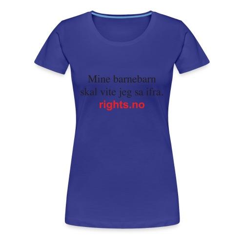 Hege---barnebarn3 - Premium T-skjorte for kvinner